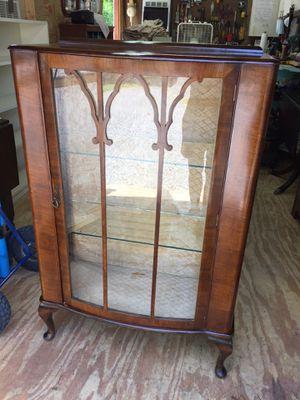 Vintage Vitrine(glass display cabinet),Walnut,good condition for Sale in Waynesboro, VA