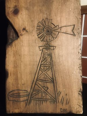 FOLK ART WOOD CARVING OF WINDMILL for Sale in Wichita, KS