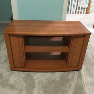 TV stand with shelves and 2 side-cabinets for media storage for Sale in Portland, OR