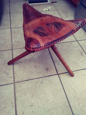 Vaquero Camp Stool with Saddle Seat for Sale in San Diego, CA