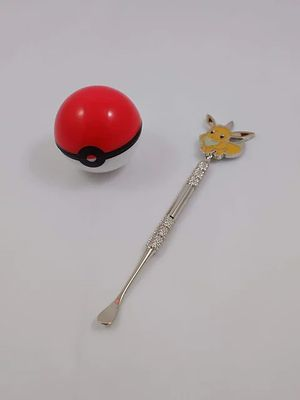 Eevee Pokemon dab metal stick tool & silicone pokeball storage container for Sale in Woodland Hills, CA