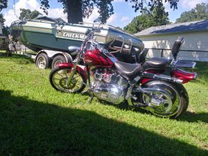 1985 Checkmate boat needs work 1980 Harley Anniversary Edition with all original parts $10,000 for both for Sale in Edgewater, MD