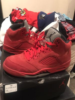 All red Jordan 5s for Sale in Buffalo, NY