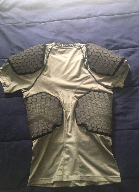 Nike Men's Pro Combat Padded Football Compression Shirt