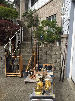 Fishing rods/poles reels from mid end to high end for Sale in Puyallup, WA