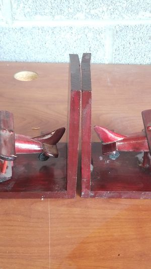 hand made wooden plane book ends for Sale in Springfield, VA