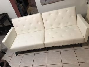Cream Futon Music Studio Couch $100 for Sale in Hialeah, FL