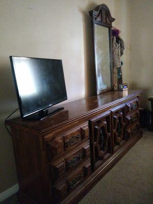 Dark wood Dresser for Sale in Riverside, CA