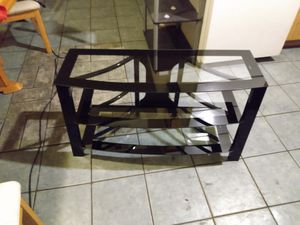 Glass tv stand made of tempered glass for Sale in North Las Vegas, NV