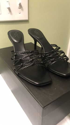 Black Leather Gucci Heels for Sale in Great Falls, VA