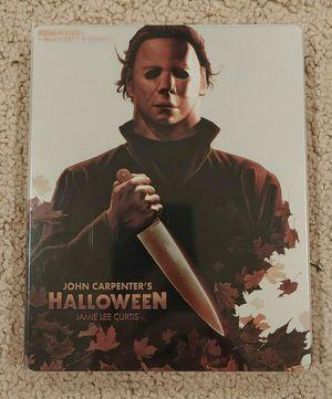 Halloween (1978) Steelbook 4K Ultra HD and Blu-ray 2 Disc Set NO DIGITAL CODE! for Sale in San Fernando, CA