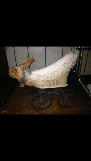 Antique rabbit basket/baby-doll stroller for Sale in West Memphis, AR