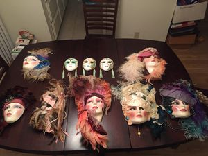 Clay Art Decorative Masks for Sale in Los Angeles, CA