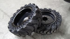 Bobcat solid tires 10x16 12x16 5.70x12 skid steer tires for Sale in Chino, CA