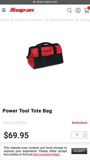 Snap on Power Tool Tote Bag for Sale in Westminster, CO