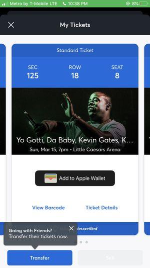 Da baby, Kevin Gates Kash Doll concert tickets for Sale in Grand Rapids, MI