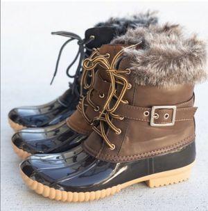 Brown Furry Cuff Duck Rain Boots for Sale in Pico Rivera, CA