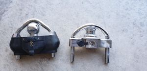Trailer coupler lock hitch ball towing safety tandem cargo utility locks for Sale in Hesperia, CA