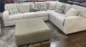 White Sectional Sofa Couch!! Brand New Free Delivery for Sale in Chicago, IL
