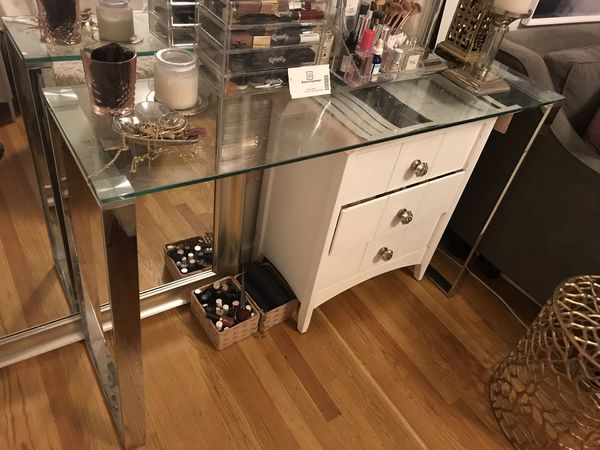 Italian Glass Console Table