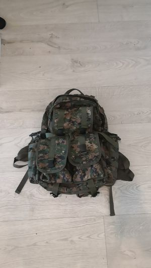 Heavy duty cammo backpack with added mole pouches for Sale in Delray Beach, FL