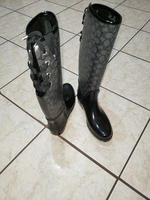 Coach Rain boots sz 8 for Sale in Pasadena, TX