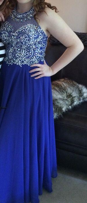 Beautiful blue formal dress sz Lg ( fits 8-10) $80 for Sale in Murfreesboro, TN