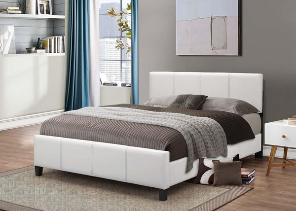 Brand New Twin Size Leather Platform Bed + Pillowtop Mattress (4 Color Options)