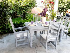 Rustic and Vintage Dining Table Set for Sale in Downey, CA