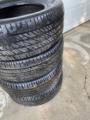 """Tires(4) P215/60/R16 94T/16 inch tires/16"""" wheels/tires/ llantas usadas 16 for Sale in Los Angeles, CA"""