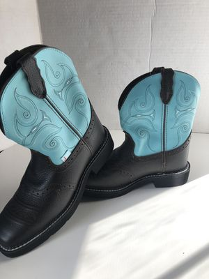 Justin Boots Dark Brown & Turquoise Gypsy (Size:8 B) for Sale in La Puente, CA