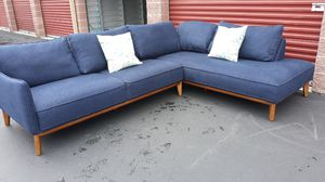 Fantastic blue sectional couch for Sale in Kirkland, WA