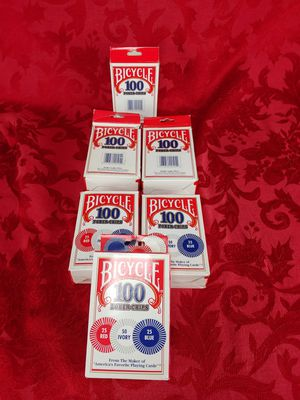 Bicycle Poker Chips 100 count with 3 colors lot of 6 for Sale in Melrose Park, IL