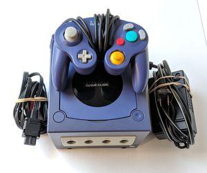Nintendo Gamecube & Controller Indigo Purple for Sale in Lawrenceville, GA