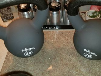 New 20 Lb. Kettlebells Coated Solid Heat Plated Cast Iron Pristine 1 or 2 for Sale in Portland,  OR