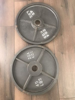 Plates with curl bar for Sale in Indianapolis, IN