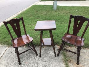 Antique center table and chairs for Sale in Durham, NC
