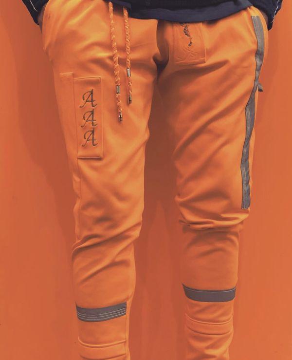 Men AléAtoire neon orange joggers