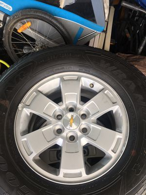 """Tires and Rims, brand new take offs from 2019 Chevy Colorado. Goodyear Wrangler 16"""" for Sale in Anaheim, CA"""