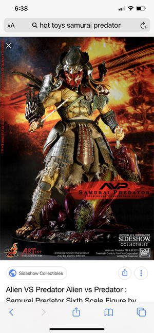 Hot toys sideshow exclusive predator samurai for Sale in Los Angeles, CA