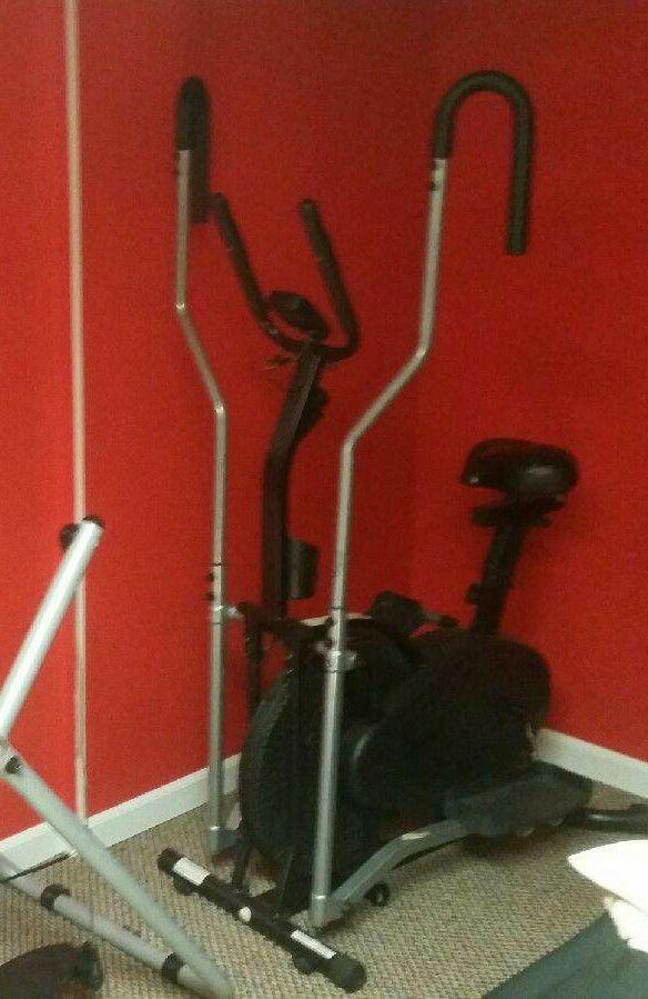 Elliptical Bike 2-in-1 Cross Trainer Exercise Fitness Machine