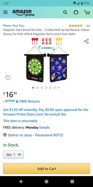 Magnetic dart board for Sale in Paramount, CA
