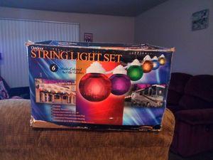 Outdoor string light set for Sale in Tulsa, OK