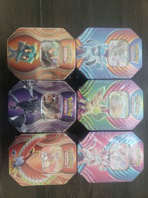 Pokemon Evolution Fall Tin - Leafeon Necrozma Glaceon Sylveon Marshadow Ho-Oh GX for Sale in Davenport, FL