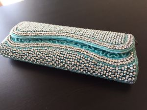 Women's hand bag/ wallet- beautiful colorful sparkling hand made designs for Sale in Annandale, VA