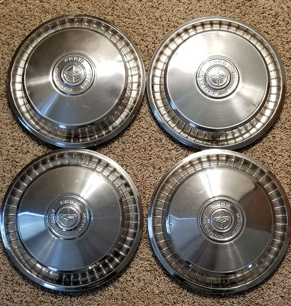 70's Vintage Collector's Ford Hubcaps