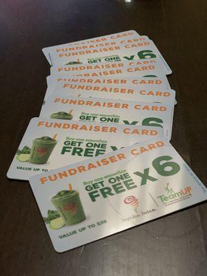 Jamba Juice BOG6 fundraiser cards. for Sale in Modesto, CA
