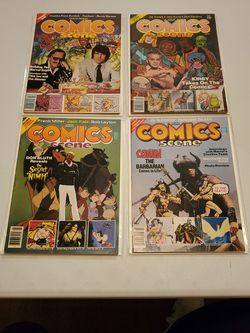 Starlog Presents Comics Scene Premiere Issue #1, 2, 3, And 4, Rare News Stand Lot Of 4. Stan Lee, Marvel, Jack Kirby, Conan, Eternals, Swamp Thing, DC for Sale in Fresno,  CA