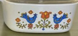 3 Corning ware pieces with lids. Fun collectible retro 1970's Country Festival pattern. for Sale in Puyallup, WA