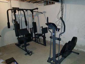 Weights set & elliptical for Sale in Ypsilanti, MI